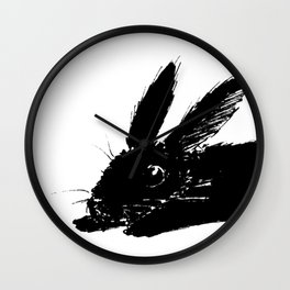 Bunny Sploot Wall Clock