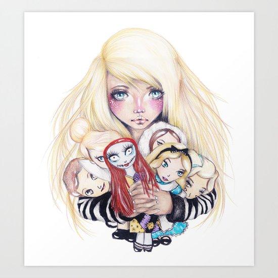 Doll Baby Art Print