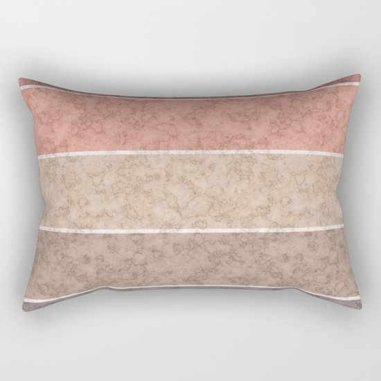 Pink and gray marble striped pattern . Rectangular Pillow