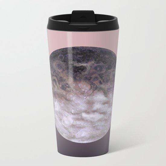 Quaoar lilac gradient Metal Travel Mug