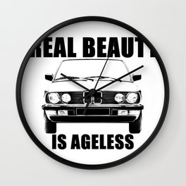 Real Beauty Is Ageless Wall Clock