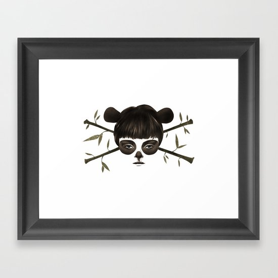 Pirate Panda Framed Art Print