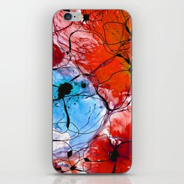 Red Flower Art - Wild Flowers - Sharon Cummings iPhone Skin