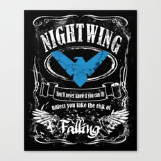 nightwing  label whiskey style Canvas Print