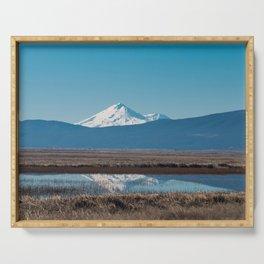Mt Shasta Reflection Serving Tray