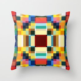 Sirin - Colorful Decorative Abstract Art Pattern Throw Pillow