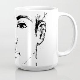 usa, man, face, Greek, model, modern, art, black and white, drawing, ink, t-shirt Coffee Mug