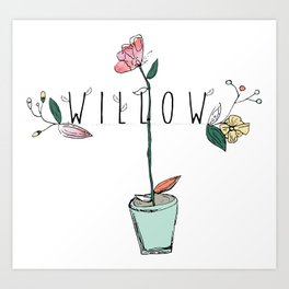 floral kids custom! Art Print