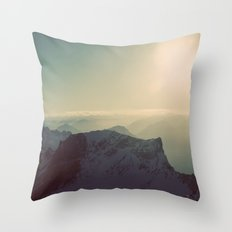 Mountain Germany Alps Color Photo Throw Pillow
