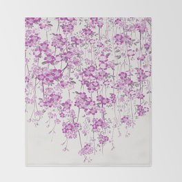 Cherry Blossom Throw Blanket