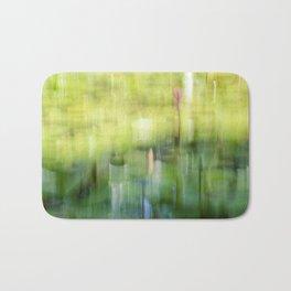 Tropical Impressionism - Lily Pond Bath Mat