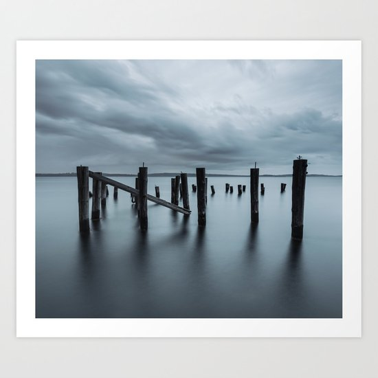 Pier of the Past Art Print