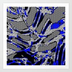 Abstract pattern mix 4B Art Print