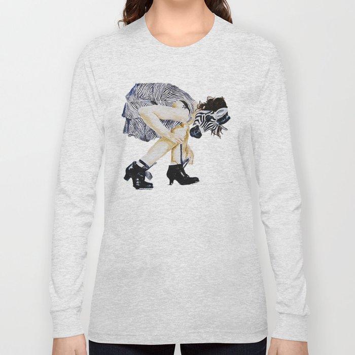 zebra girl Long Sleeve T-shirt