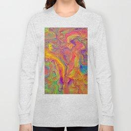 Unicorn psychedelic ice cream Long Sleeve T-shirt