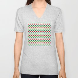 Contemporary Christmas-Colored Chic Dots Trendy Pattern Unisex V-Neck