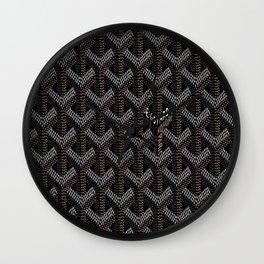 Goyard Black Wall Clock