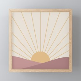 Morning Light - Pink Framed Mini Art Print