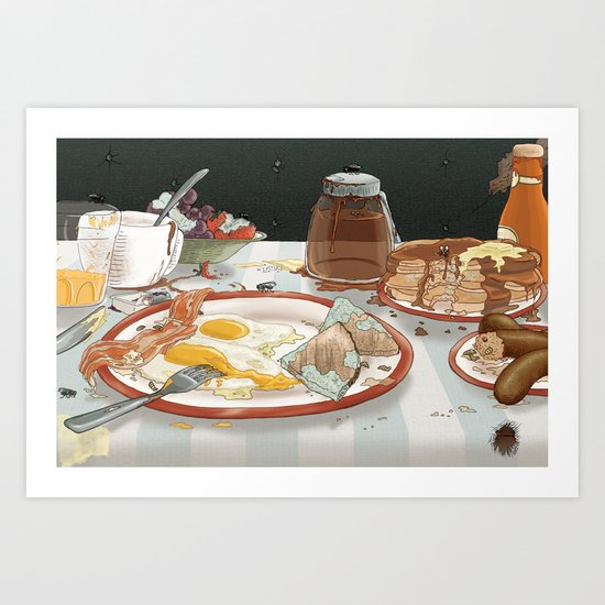 Breakfast Sucks! Art Print