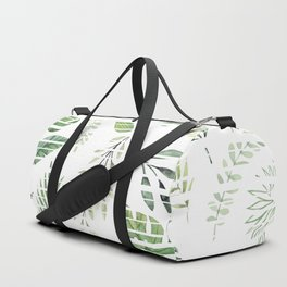 Summer stripped leafs pattern Duffle Bag