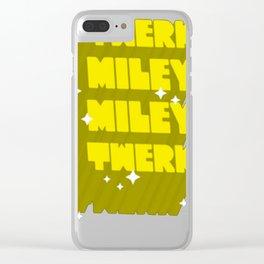 TWERK MILEY MILEY TWERK TANK TOP Clear iPhone Case