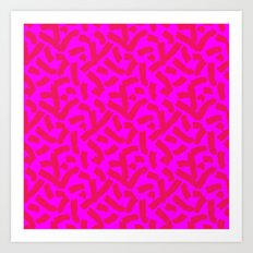 Hot Pink Cheese Doodles /// www.pencilmeinstationery.com Art Print