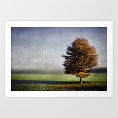dressed in autumn Art Print