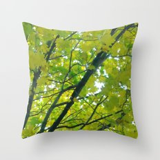 Lush ~ yellow-green leaves 4 U! ~ summer tree Throw Pillow