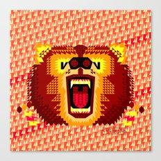Geometric Bear 2012 Canvas Print