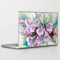 virginia Laptop & iPad Skins featuring virginia bluebells by Beth Jorgensen