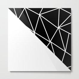 GEOMETRIC PATTERN (BLACK-WHITE) Metal Print