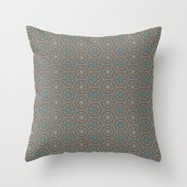 Going round and round - Orange/Taupe/Teal Throw Pillow