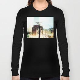 Cambridge Streets at Nighttime Long Sleeve T-shirt