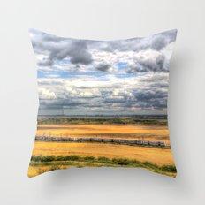 Countryside Train  Throw Pillow