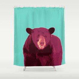 Bear poster, Brown bear, Happy bear wall art, GRIZZLY BEAR, animal bear, pop art poster Shower Curtain