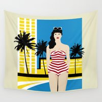 5 seconds of summer Wall Tapestries featuring sUMMER by f_e_l_i_x_x