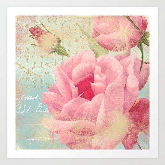 Vintage flowers #13 Art Print