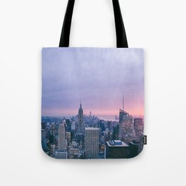 New York Sunset, I love NYC (Manhattan, Brooklyn, Queens) Tote Bag