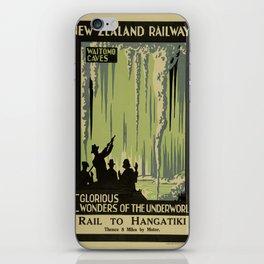 Vintage poster - Waitomo Caves iPhone Skin