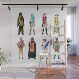Naughty Lightsabers - Light Wall Mural