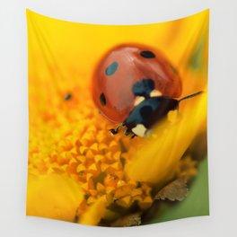 Ladybird, macro photography, still life, fine art, nature photo, romantic wall print Wall Tapestry