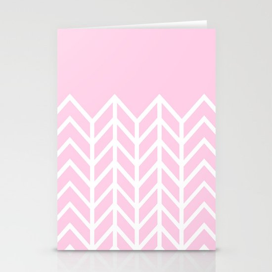LACE CHEVRON (PINK) Stationery Cards