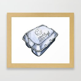 Happy Take-Out Box Framed Art Print