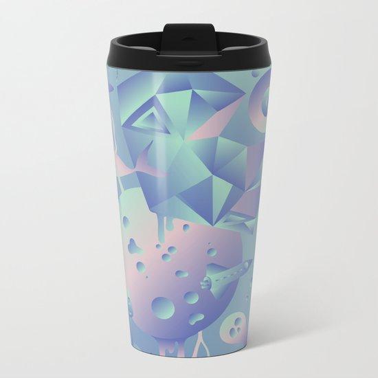 Geometromorphic Ocean Metal Travel Mug
