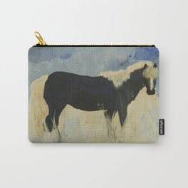 Horse in snow Carry-All Pouch