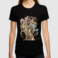 The Great Horse Race! Black X-LARGE Womens Fitted Tee