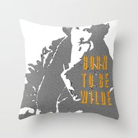 oscar wilde Throw Pillows featuring Lady Oscar Wilde by pruine