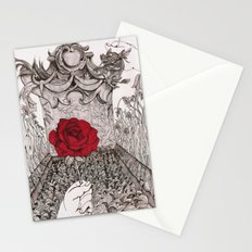 rose and grave Stationery Cards