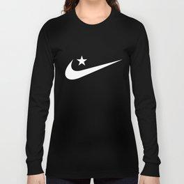 Swoosh Crescent (Allahu Akbar) / White Long Sleeve T-shirt