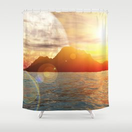 Sunny day on alien planet Shower Curtain